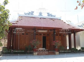 Mẫu nhà từ đường gỗ